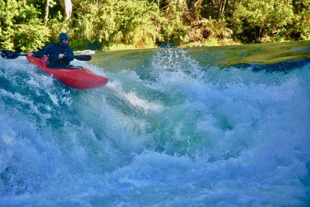 Backyard rapids on the Trancura.