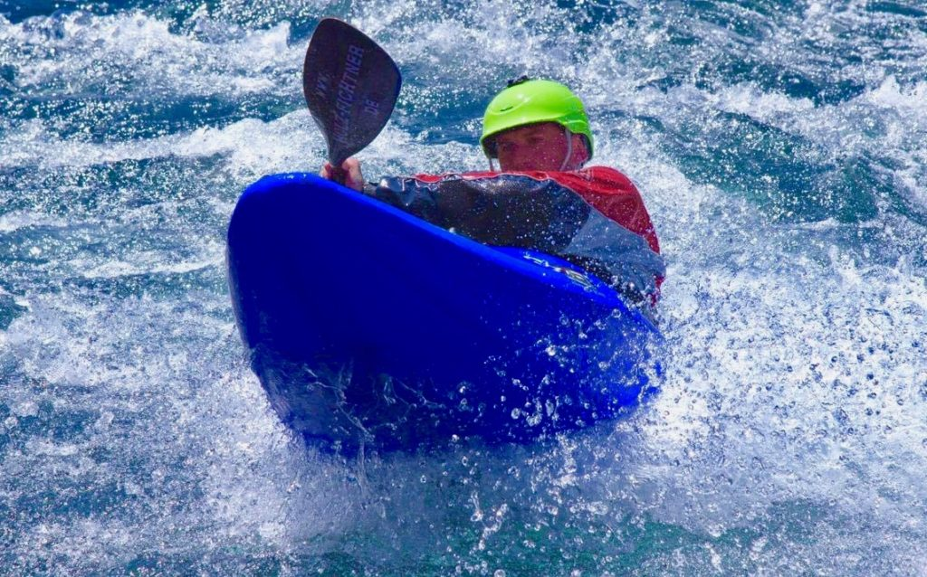 Tinkerbell Rapid, land of ferries is one of our favorite aggressive eddy lines for teaching skills.