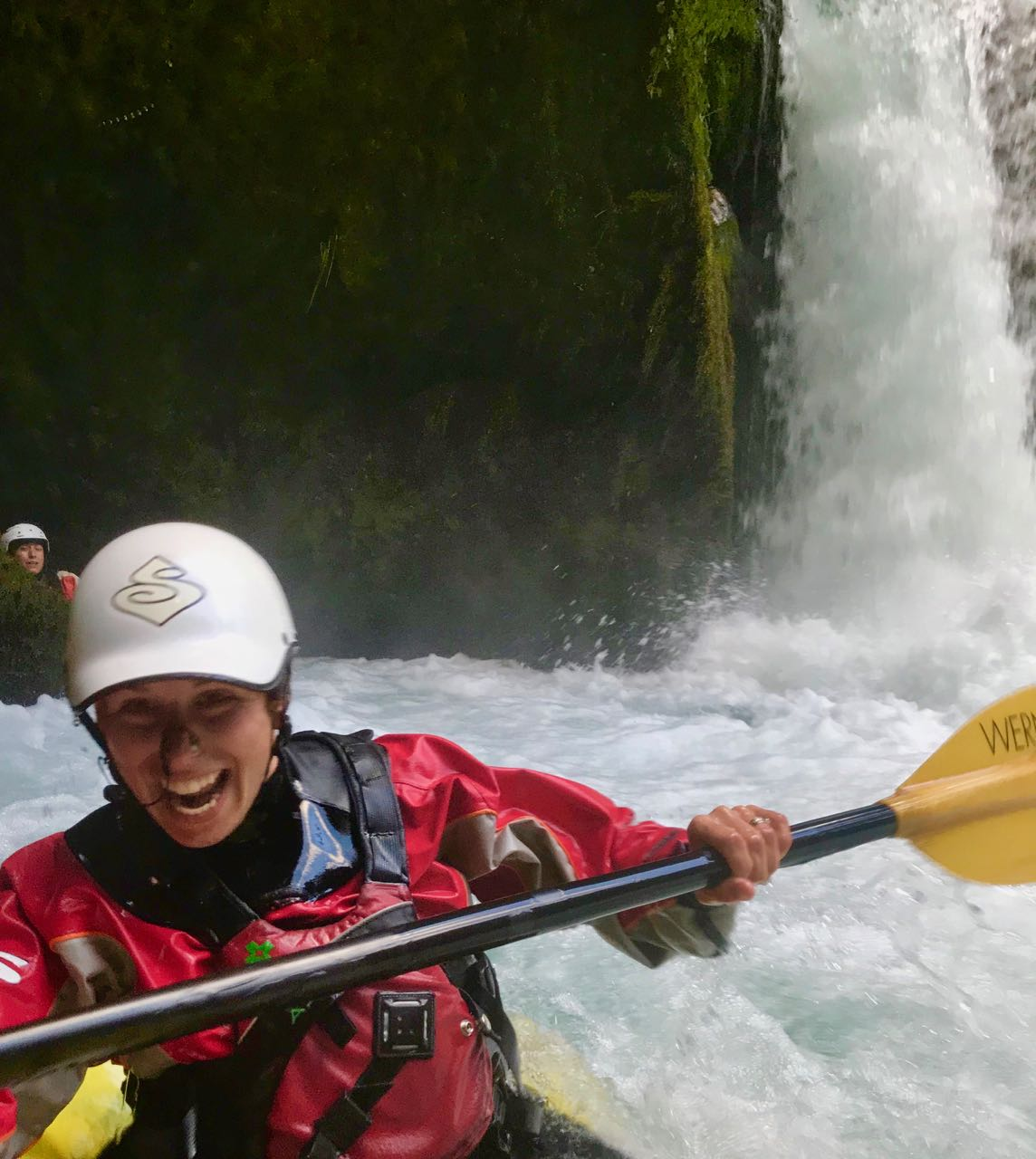 whitewater kayak chiles upper palguin waterfalls